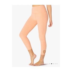 Beyond Yoga Blanket Stitch High Waist Capri